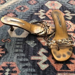 Manolo Blahnik kitten heel sandals - size 9 (39.5)